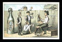 Old Liebler beer post card