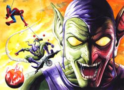 Green Goblin and Spider-Man