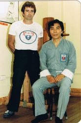 A young Master Beau with Sifu Jimmy Fung