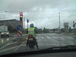 Luksafors un motocikls