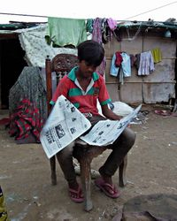 Baadshah gets to grips with his first published article