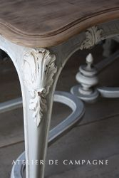 #26/003 FRENCH TABLE LOUIS XV DETAIL