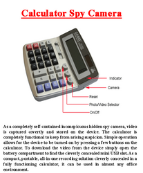 Calculator Spy Camera