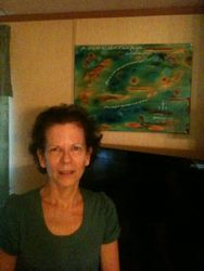 Kim Counce's Mom w/ her birthday gift from her daughter: Jeremiah 29:11