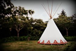 Tipi on the Circle Lawn