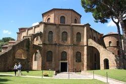 Exterior of Basilica San Vitale in Ravenna