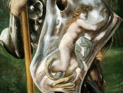 Burne-Jones, St. George, detail, Hartford