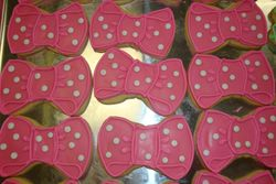 large bow cookies $3 each