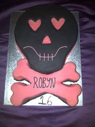 Scull and Crossbones Cake