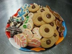 cookie platter- cost of cookies plus $5 platter/bag fee