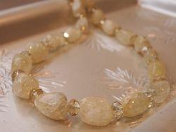 Lemon Yellow Quartz Necklace