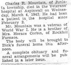 Mountain, Charles 1942