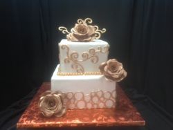 Bubble freize/brown rose cake