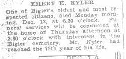 Kyler, Emery E. 1932