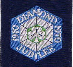1970 Anniversary Ribbon Badge