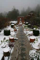 Cloud Hill Gardens in Snow