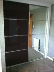 Black and mirror doors