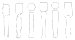 Tap Handle Contour Design Concepts