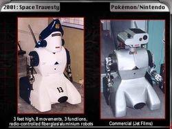 """Nintendo"" commercial Modif. on 2001 robot"
