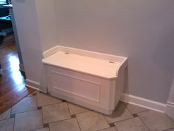 Mudroom Storage Bench After