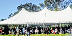 New citizens and their guests at the Charles Pinckney National Historic Site