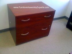 Bush lateral file cabinet installation service in Washington DC