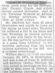 Hatfield, William - Part 1 - 1953