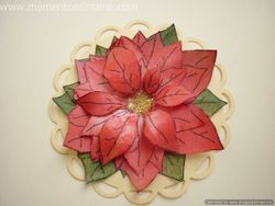 Layered Poinsettia Card