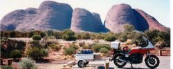 Tom's XJ900 at the Olgas after the 1994 AGM at Alice Spring - May 1994