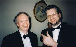 With Ronan Magill, Orwell Park School, Suffolk, UK, 1998