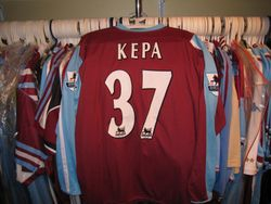 Kepa Blanco worn vs Liverpool  2006/07