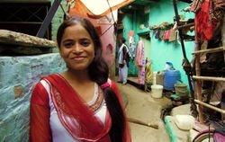 37 Shanno, in Sunder Nagari slum, her home in Delhi
