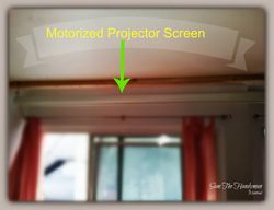 Motorized Projector's Screen installation