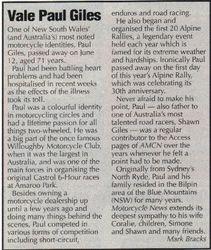 1999 Vale Paul Giles