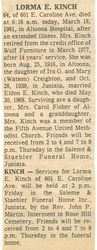 Kinch, Lorma Evelyn Creighton 1981