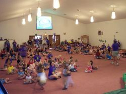 Kids at VBS