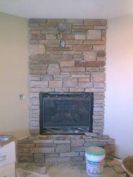 cultured stone fireplace near Denver Colorado