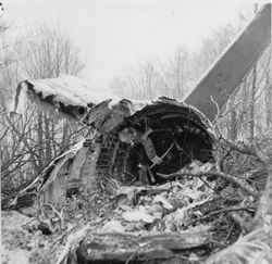 The tail section. Photo courtesy of the Williamsport Sun Gazette archive.