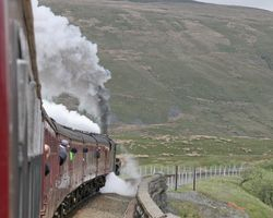 Leaving Ribblehead viaduct