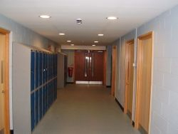 Ground Floor Changing Rooms Corridor
