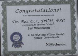 2013 Readers' Choice Award