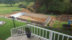 16x36 pre footing and back fill