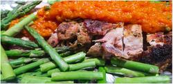 Pork Tenderloin with Roasted Red Pepper Sauce