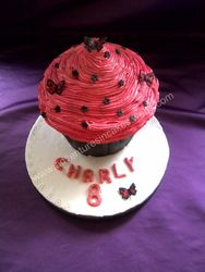 Pink and Black Giant Cupcake (chocolate flavour)