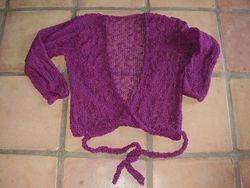 4.   loose knit - tie jacket