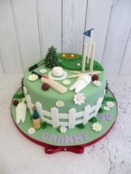 90th birthday cricket cake