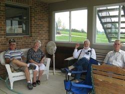Carole Kuchta Steele & husband, Phil Gransinger, Jerry Renehan