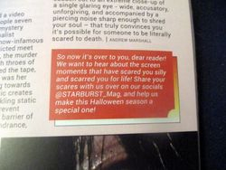 Closing Blurb in Everyone's Entitled to One Good Scare in Starburst Magazine #474: Everyone's Entitled to One Good Scare Collectors' Edition at The Wombatorium 2.0: A Capital Idea
