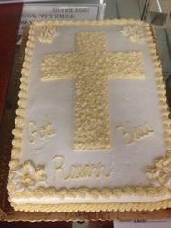 Religious Cross Cake
