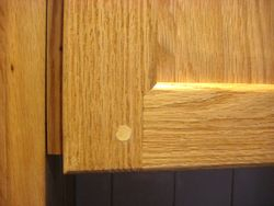 Top cabinet detail